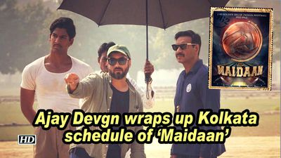 Ajay devgn wraps up kolkata schedule of maidaan