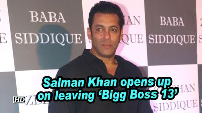 Salman khan opens up on leaving bigg boss 13
