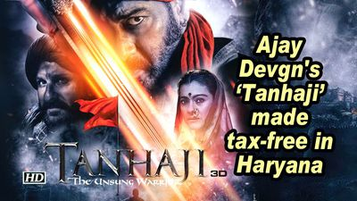 Ajay devgns tanhaji made taxfree in haryana