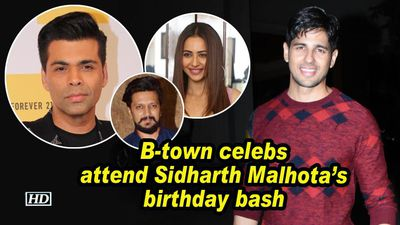 B town celebs attend sidharth malhotas birthday bash
