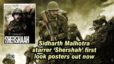 Sidharth malhotra starrer shershah first look posters out now