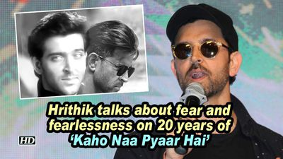 Hrithik talks about fear and fearlessness on 20 years of kaho naa pyaar hai