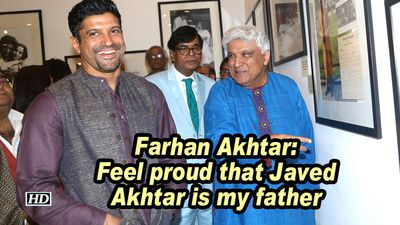 Farhan akhtar feel proud that javed akhtar is my father