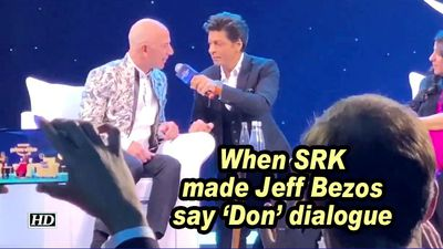 When srk made jeff bezos say don dialogue