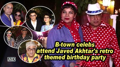 B town celebs attend javed akhtars retro themed birthday party