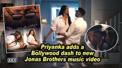 Priyanka adds a bollywood dash to new jonas brothers music video