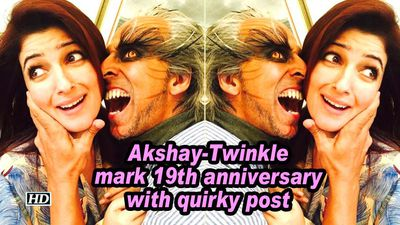 Akshay twinkle mark 19th anniversary with quirky post