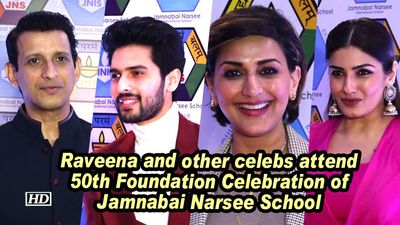Raveena and other celeb s attend 50th foundation celebration of jamnabai narsee school