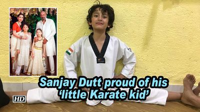 Sanjay dutt proud of his little karate kid