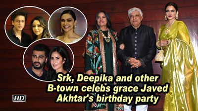 Srk deepika and btown celeb s grace javed akhtar s birthday party