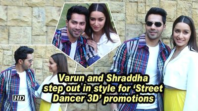Varun and shraddha step out in style for street dancer 3d promotions