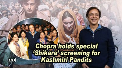Chopra holds special 'Shikara' screening for Kashmiri Pandits