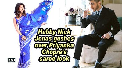 Hubby Nick Jonas gushes over Priyanka Chopra's saree look