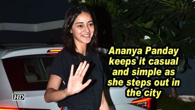 Ananya panday keeps it casual and simple as she steps out in the city
