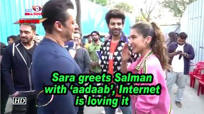 Sara greets salman with aadaab internet is loving it