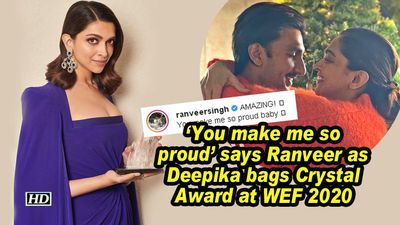 You make me so proud says ranveer as deepika bags crystal award at wef 2020