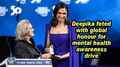 Deepika feted with global honour for mental health awareness drive