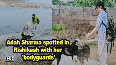 Adah sharma spotted in rishikesh with her bodyguards