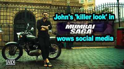John abrahams killer look in mumbai saga wows social media