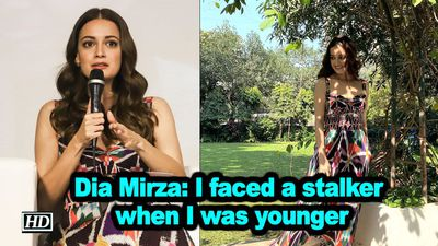 Dia mirza i faced a stalker when i was younger