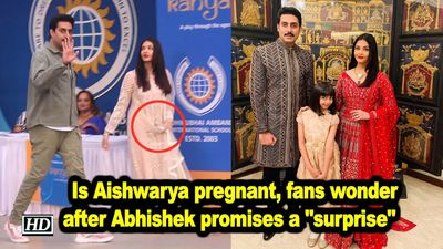 Is aishwarya pregnant fans wonder after abhishek promises a surprise
