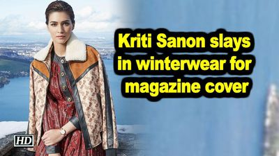 Kriti sanon slays in winterwear for magazine cover