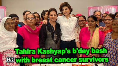 Tahira kashyaps bday bash with breast cancer survivors