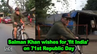Salman khan wishes for fit india on 71st republic day