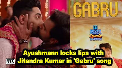 Ayushmann locks lips with jitendra kumar in gabru song