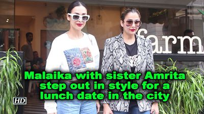 Malaika with sister amrita step out in style for a lunch date in the city