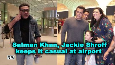 Salman khan jackie shroff keeps it casual at airport