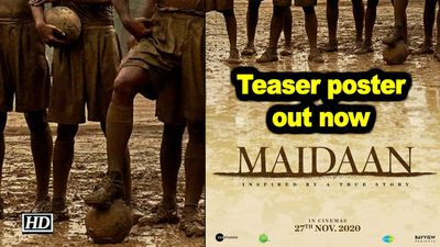 Ajay devgn starrer maidan teaser poster out now