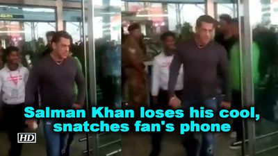Salman Khan loses his cool snatches fans phone