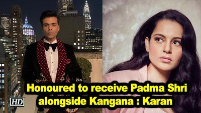 Honoured to receive padma shri alongside kangana karan