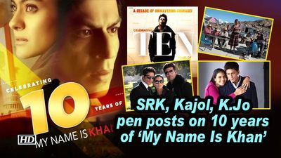 Srk kajol k jo pen posts on 10 years of my name is khan