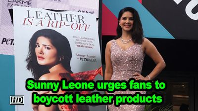 Sunny Leone urges fans to boycott leather products