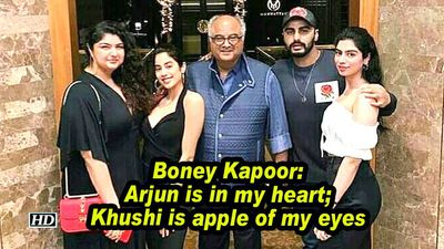 Boney Kapoor: Arjun is in my heart; Khushi is apple of my eyes