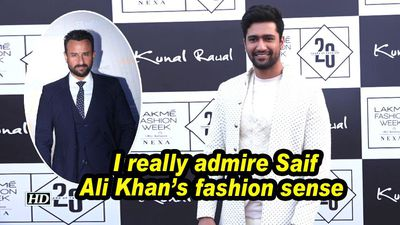 Vicky Kaushal : I really admire Saif Ali Khan's fashion sense