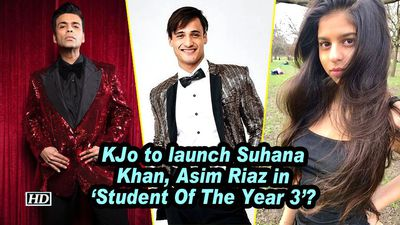 KJo to launch Suhana Khan, Asim Riaz in 'Student Of The Year 3'?