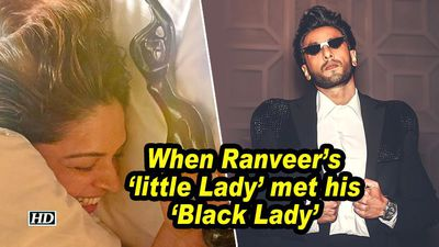 When Ranveer's 'little Lady' met his 'Black Lady'