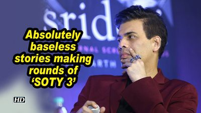 KJo: Absolutely baseless stories making rounds of 'SOTY 3'