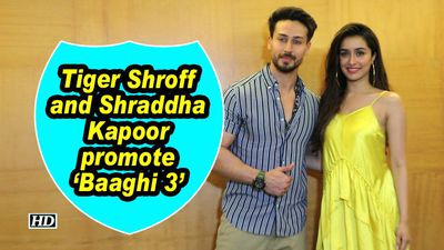 Tiger Shroff and Shraddha Kapoor promote 'Baaghi 3'