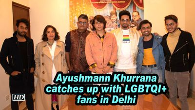 Ayushmann Khurrana catches up with LGBTQI+ fans in Delhi