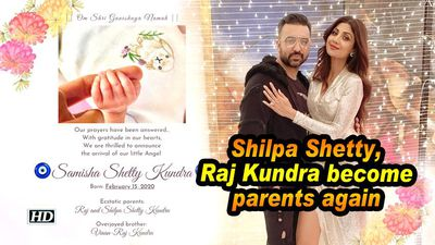Shilpa Shetty, Raj Kundra become parents again