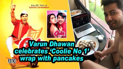 Varun Dhawan celebrates 'Coolie No 1' wrap with pancakes