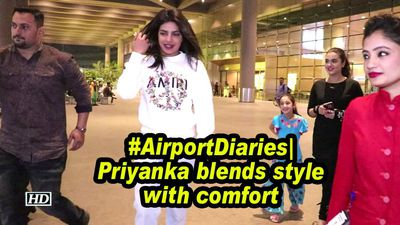 #AirportDiaries| Priyanka blends style with comfort