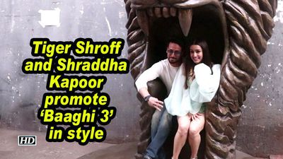 Tiger Shroff and Shraddha Kapoor promote 'Baaghi 3' in style