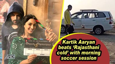 Kartik Aaryan beats 'Rajasthani cold' with morning soccer session