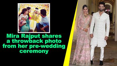 Mira Rajput shares a throwback photo from her pre wedding ceremony