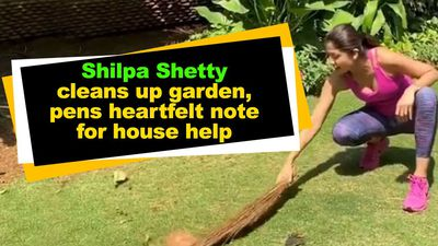 Shilpa Shetty cleans up garden pens heartfelt note for house help